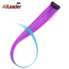 Alileader 20 Colors Ombre  Clip in Hair Extensions Synthetic Hair Extension Heat Resistant Fiber 20 Colors Available  Hairpiece
