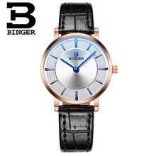 Binger Wristwatches Women Luxury Brand Fashion Retro Waterproof Leather Quartz Watch Women's Wrist Watches Relogio Feminino