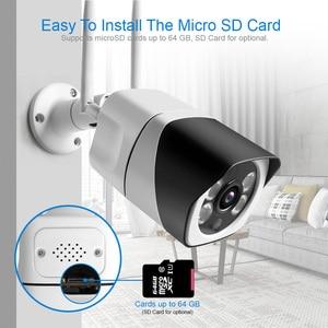 Image 3 - HD 1080P 5MP كاميرا IP لاسلكية ONVIF اتجاهين الصوت واي فاي كاميرا في الهواء الطلق مقاوم للماء TF فتحة للبطاقات رصاصة كاميرات P2P APP ICsee