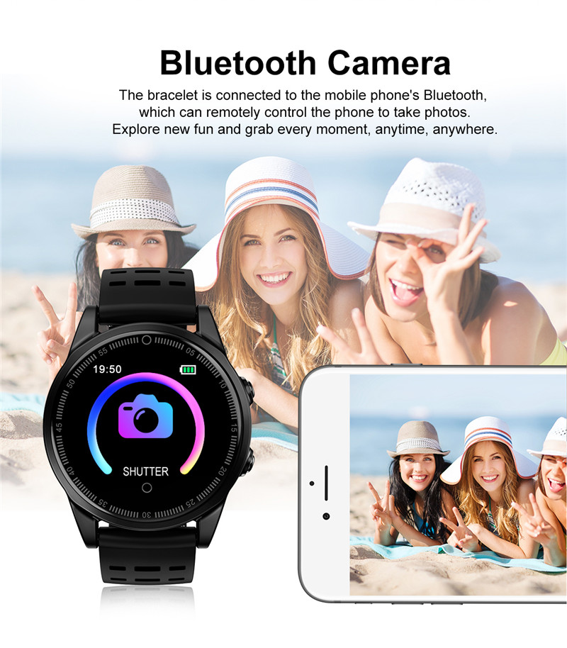 Smart watch fitness waterproof for Android IOS Bluetooth Camera