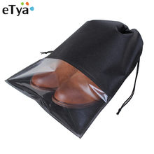 eTya Women Men Shoes Bag Non-Woven Fabric Travel Drawstring Shoes Cloth Bags Pouch Case Organizer Travel Accessories(China)