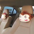 Frete grátis Desenhos Animados do carro encosto de cabeça pescoço almofada travesseiro pescoço resto travesseiro amantes hiphop macaco tubo de escape acessórios do carro