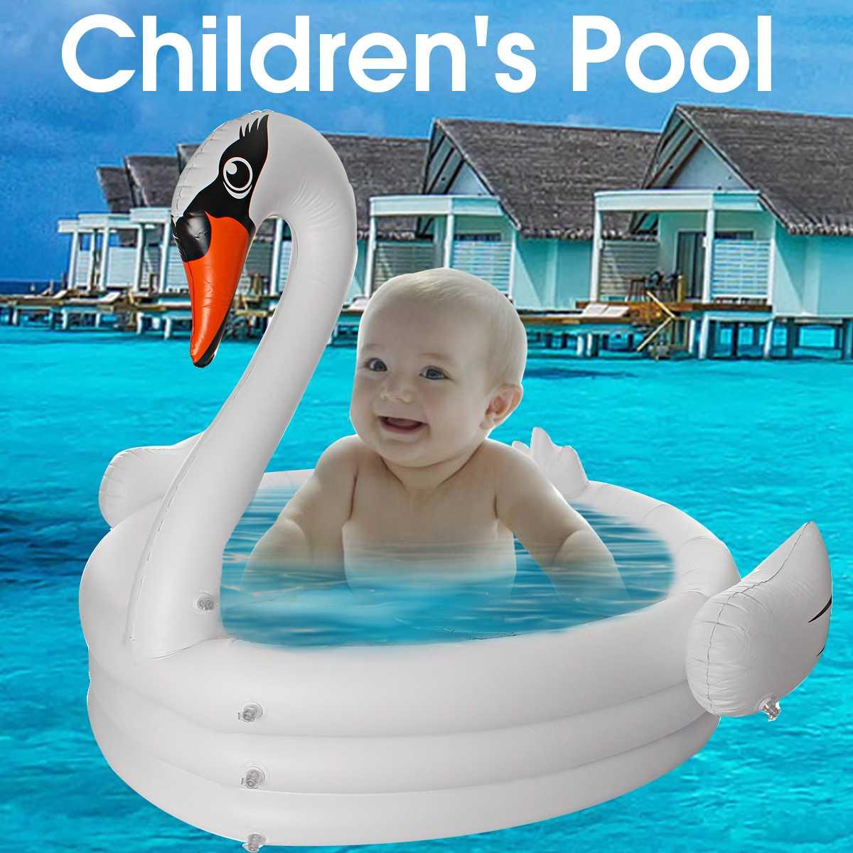 Été chaud grande piscine gonflable cygne pour adultes bébé enfants été pataugeoire piscine baignoire cercles flotteur piscine jouets