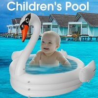 Hot Summer Large Inflatable Swan Swimming Pool for Adults Baby Kids Summer Water Paddling Pool Bathtub Circles Float Pool Toys