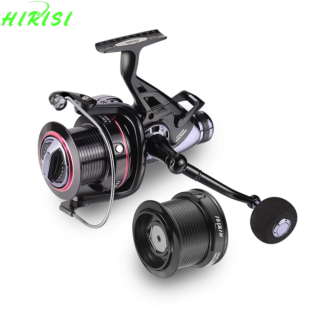 Hirisi Carp Fishing Reels Bait Runner Big Free Runner Double Brake Feeder 10+1 Ball Bearing Spinning Fishing Reel HQ8000 10 1bb spinning fishing reel fishing tackle tool accessory super fast artificial bait sea fishing wheel dual bearing system