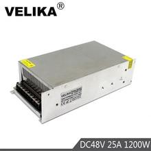 Fuente de alimentación conmutada de salida única, transformador de 1200W, 48V, 25a, 110V, CA a DC48V, SMPS para Motor de luz LED, paso a paso, CNC CCTV
