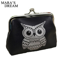 Mara's Dream 2016 Wallets For Womens Owl Elephant Pattern Female Wallet Card Holder Coin Purse China Wallet Ladies
