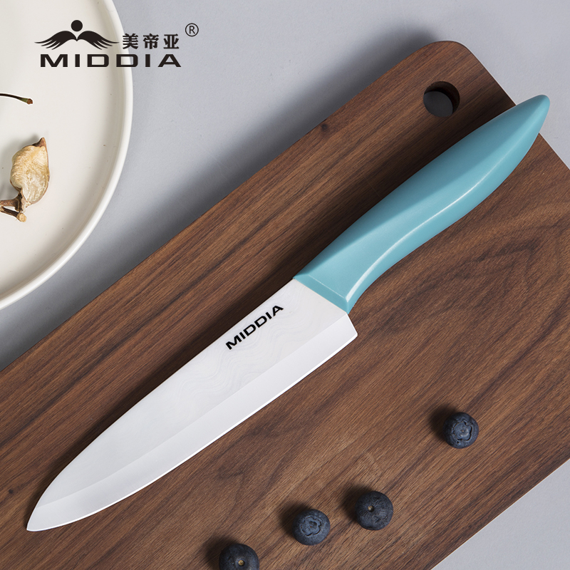 Middia 새로운 주방 도구 6 인치 세라믹 요리사 요리 칼