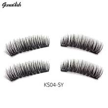 Genailish magnetic eyelashes 6D magnet lashes with double tiny magnets Handmade cilios Natural Eye Lashes Extension-KS04