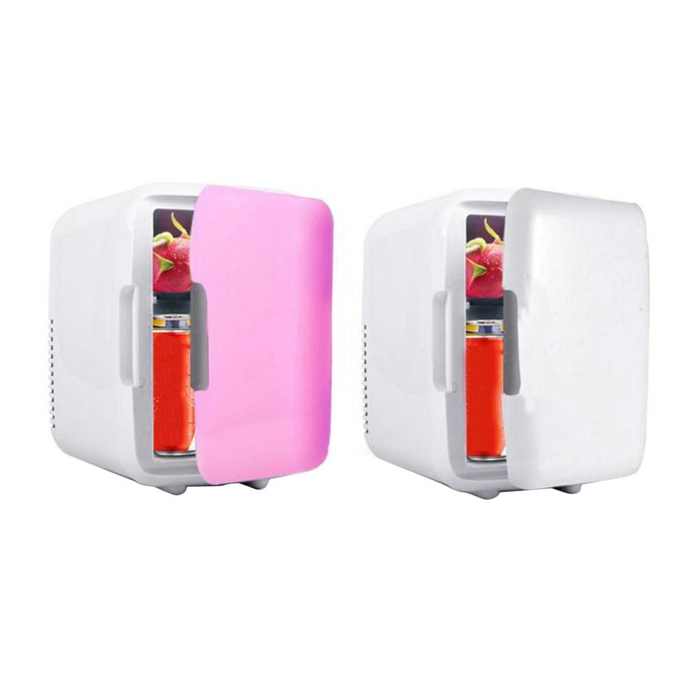 Car Freezer 4L Mini Fridge Refrigerator Portable Car Home Dual Use Car Fridge 12V Cooler Heater Universal Vehicle Parts Dropship