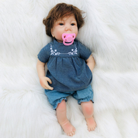 Latest unique 45cm Silicone Reborn Boneca Real Fashion Baby Dolls For Princess Children Gift and Pink pacifier Bebes Reborn Doll