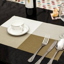 Dining Table Placemat Kitchen Tool PVC Tableware Pad Coaster Coffee Tea Place Mat Europe Style