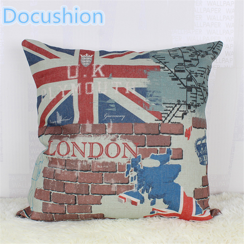 Buy 2016 fashion european decorative cushions new london builing style throw - Enhance your home decor with fancy cushions ...
