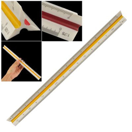 1:20/25/50 /75/100/125 Plastic Triangular Ruler Measurement Ruler