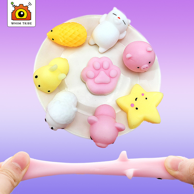 37Kind of style Soft cute animals decompress colorful stretch squishy reduce stress make people happy and relaxed