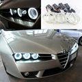 For Alfa Romeo Brera Spider 2005-2011 Excellent Angel Eyes Ultrabright headlight illumination ccfl angel eyes kit Halo Ring