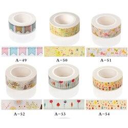 15mm x 10m Washi Tape DIY Fita Adesiva Scrapbooking Escola Material de Escritório Papelaria Escolar Fita Adesiva Decorativa