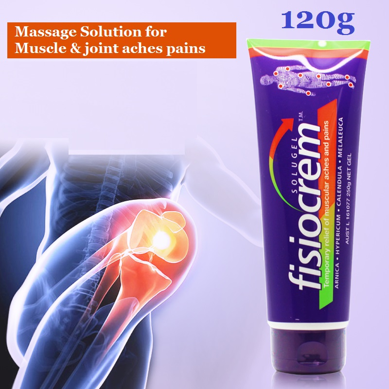 Fisiocrem 120g Muscle & joint aches pains massage Solution bumps bruises Gel Relief of muscle joints pain Back pain relief cream eric g flamholtz growing pains