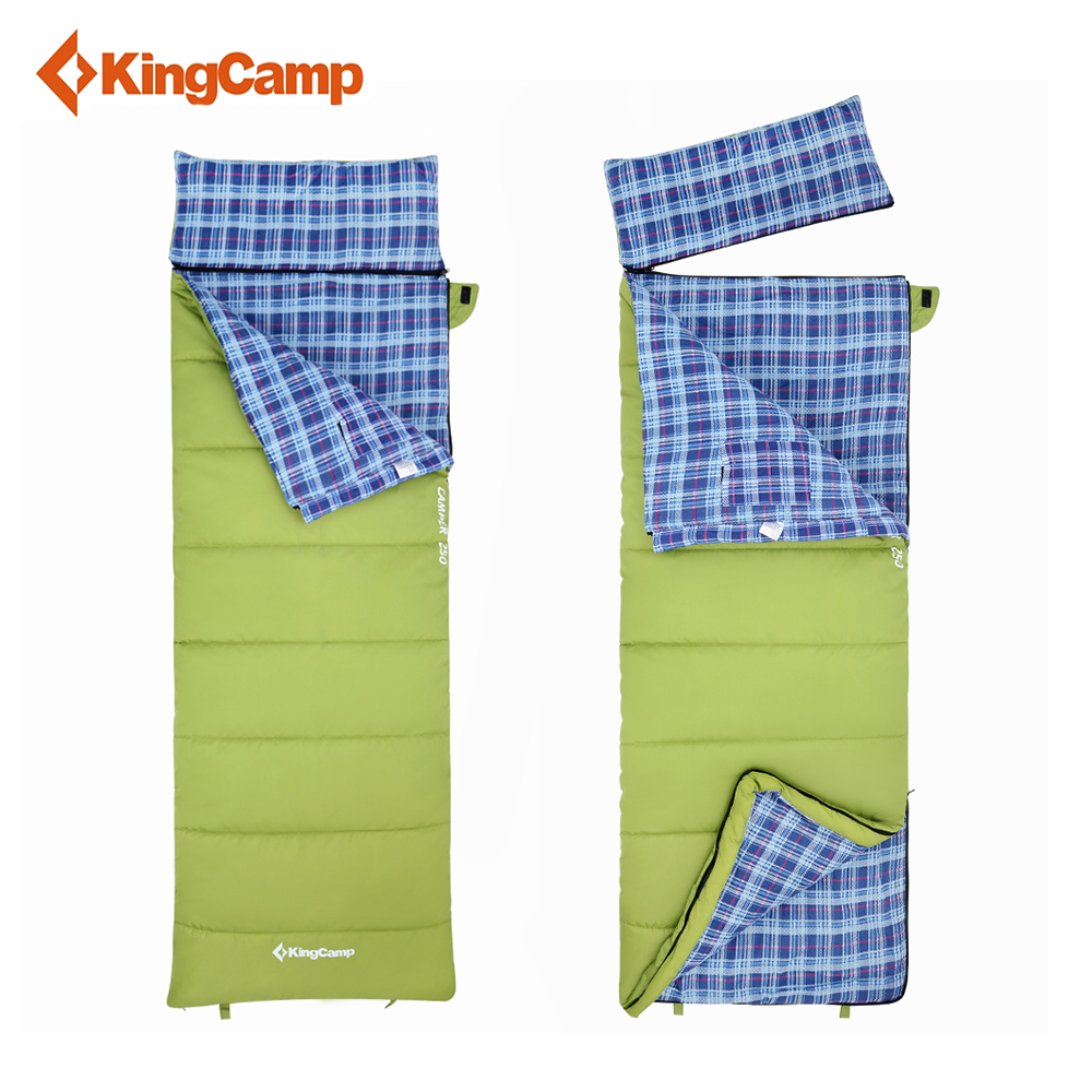 KingCamp Envelope Cotton Lazy Bag Portable Ultralight Flannel Lined Sleeping Bag 2-season for Camping Backpacking kingcamp envelope cotton lazy bag portable ultralight flannel lined sleeping bag 2 season for camping backpacking