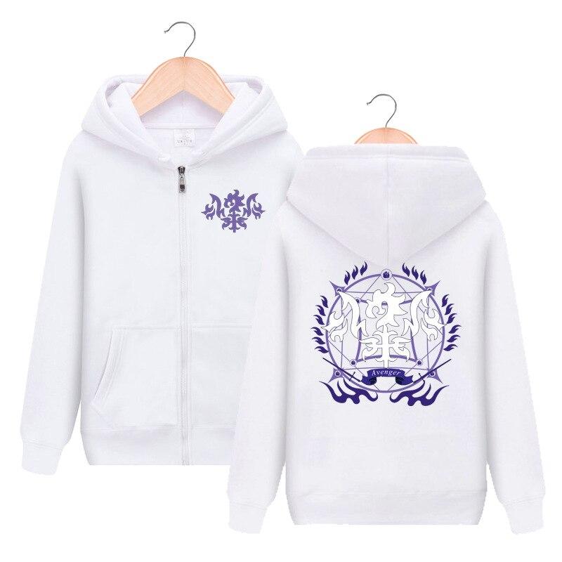 Fate Grand Order Alter Jeanne d'Arc Zipper Hooded Hoodie Cosplay Costume Men Women Jacket Casual Sweatshirt Sportswear