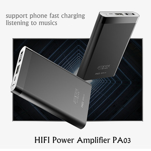 Image 3 - Artextreme PA03 מתקדם 2 ב 1 מתכת HiFi אודיו אוזניות מגבר 2.5A מהיר טעינת 8000mah כוח בנק עבור IOS אנדרואיד 130mw