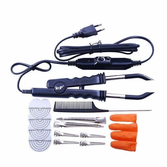 מקצועי משתנה מתכוונן בקרת חום שטוח צלחת Fusion הארכת שיער קרטין Bonding סלון כלי חום ברזל שרביט