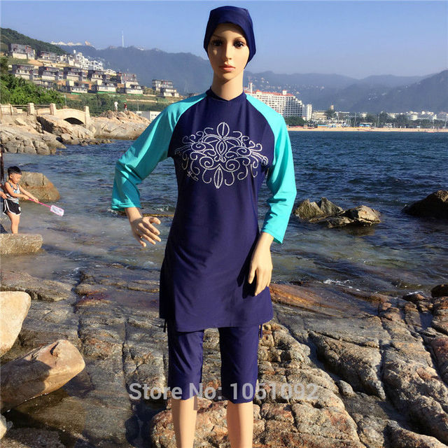 c37b097a24a 4XL-S short sleeve swimsuit swimwear islamic muslim swimwear cheap modest swimsuits  muslim swimsuit short sleeve for women