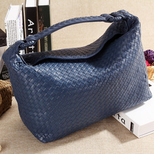 The new hand-woven leather handbag shoulder bag large capacity female sheepskin women BB636
