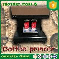 Máquina de impressão do milktea da impressora dobro do café dos copos