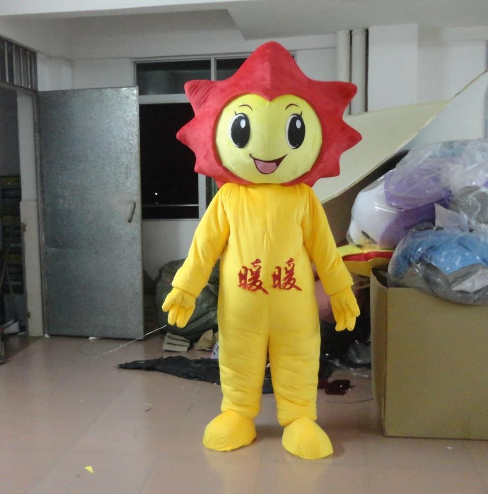 Стиль мультипликационный персонаж Красный солнце талисман костюм для взрослых Маскоты нарядное платье на Хэллоуин Детский костюм для вече