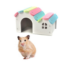 Pet Castle Self Assembly Pet House Hamsters Nest House Loft Bed Cage Nest(China)