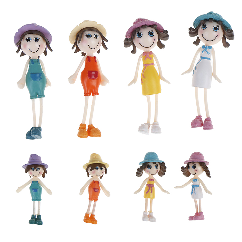 1pc Plastic Funny Dollhouse Family Dolls Small Toy Figures Dressed