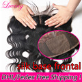 13*4 Virgin Brazilian Body Wave Frontal Ear To Ear Silk Base Frontal Closure With Hidden Knot Full lace Frontal With Baby Hair