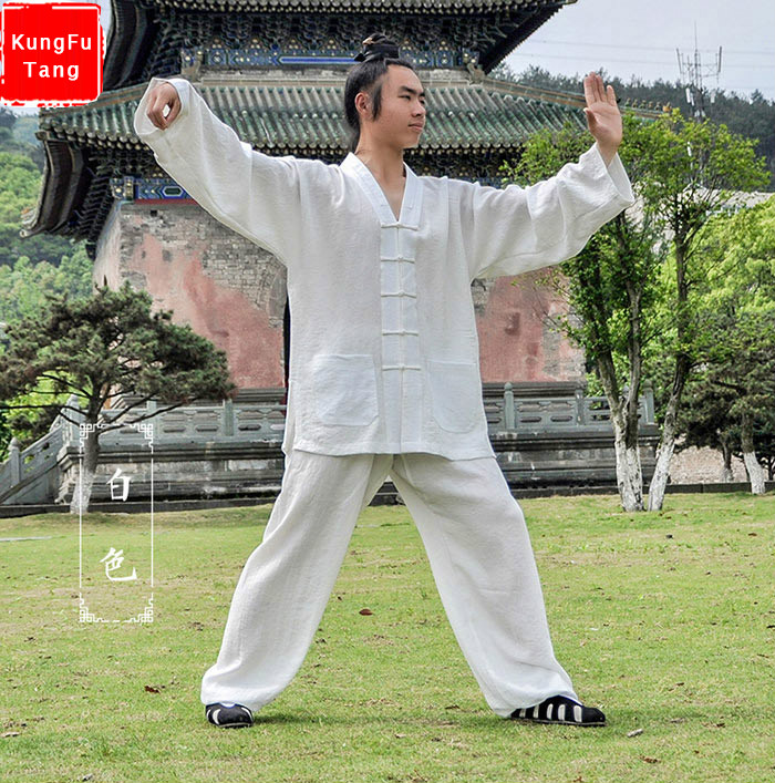 High-grade Linen kung fu uniforms Chinese Men's Wudang tai chi suits taoist robe martial arts wushu taiji clothing 4colors classic jeet kune do uniforms black jkd suits kung fu clothing martial arts outfits training clothes for adult children