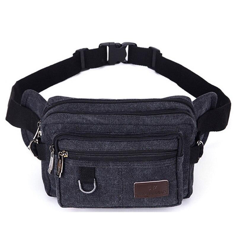 Casual Canvas Kleine Capaciteit Taille Verpakking Tassen Voor Mannen Multifunctionele Handtassen Tassen Mini Borst Zakken Reizen Pouch Money Belt Tassen