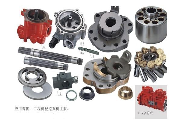 Kawasaki repair kit Hydraulic Piston oil Pump parts K3V63DT cylinder block valve plate retainer plate spare parts