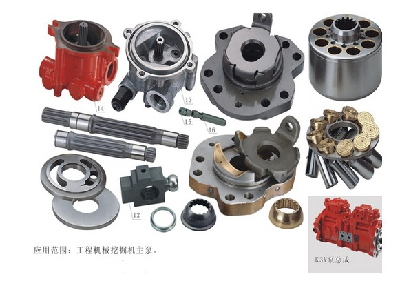 Kawasaki repair kit Hydraulic Piston oil Pump parts K3V63DT cylinder block valve plate retainer plate spare parts