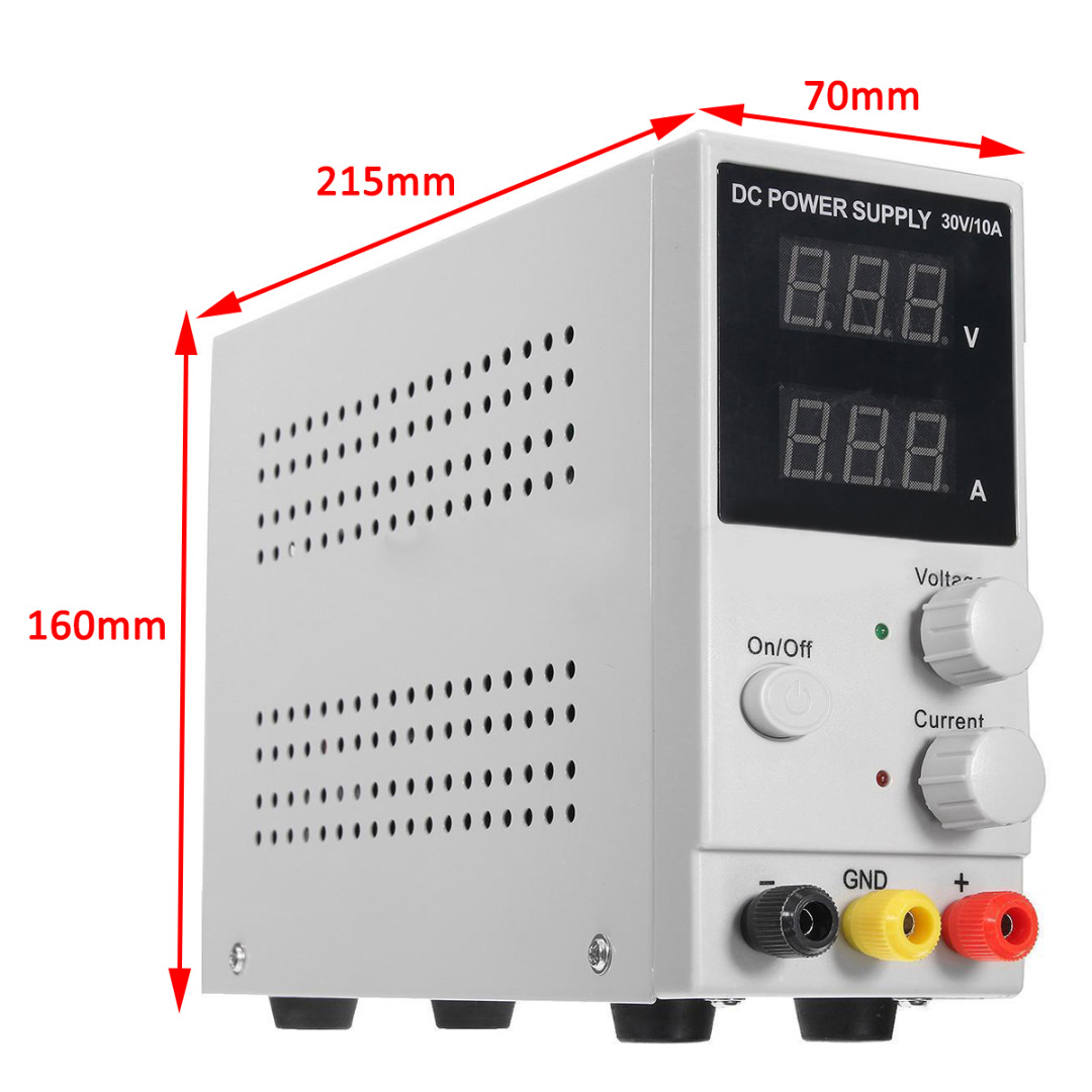 1pc 30V 10A DC Power Supply Adjustable Switching Regulated LCD Dual Digital Display Mayitr diy kit dc dc adjustable step down regulated power supply module belt voltmeter ammeter dual display