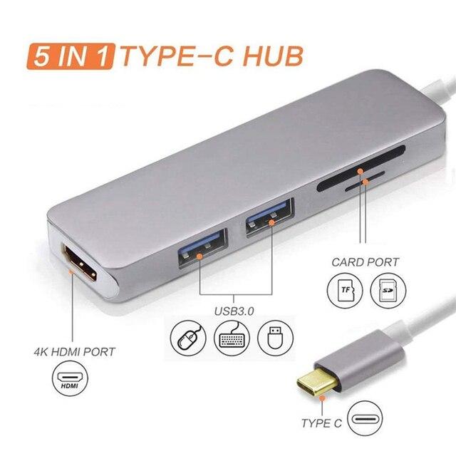 Rankman type-c a RJ45 Gigabit Lan Ethernet HDMI VGA adattatore SD TF lettore di schede Audio USB 3.0 per MacBook Samsung Huawei TV 5