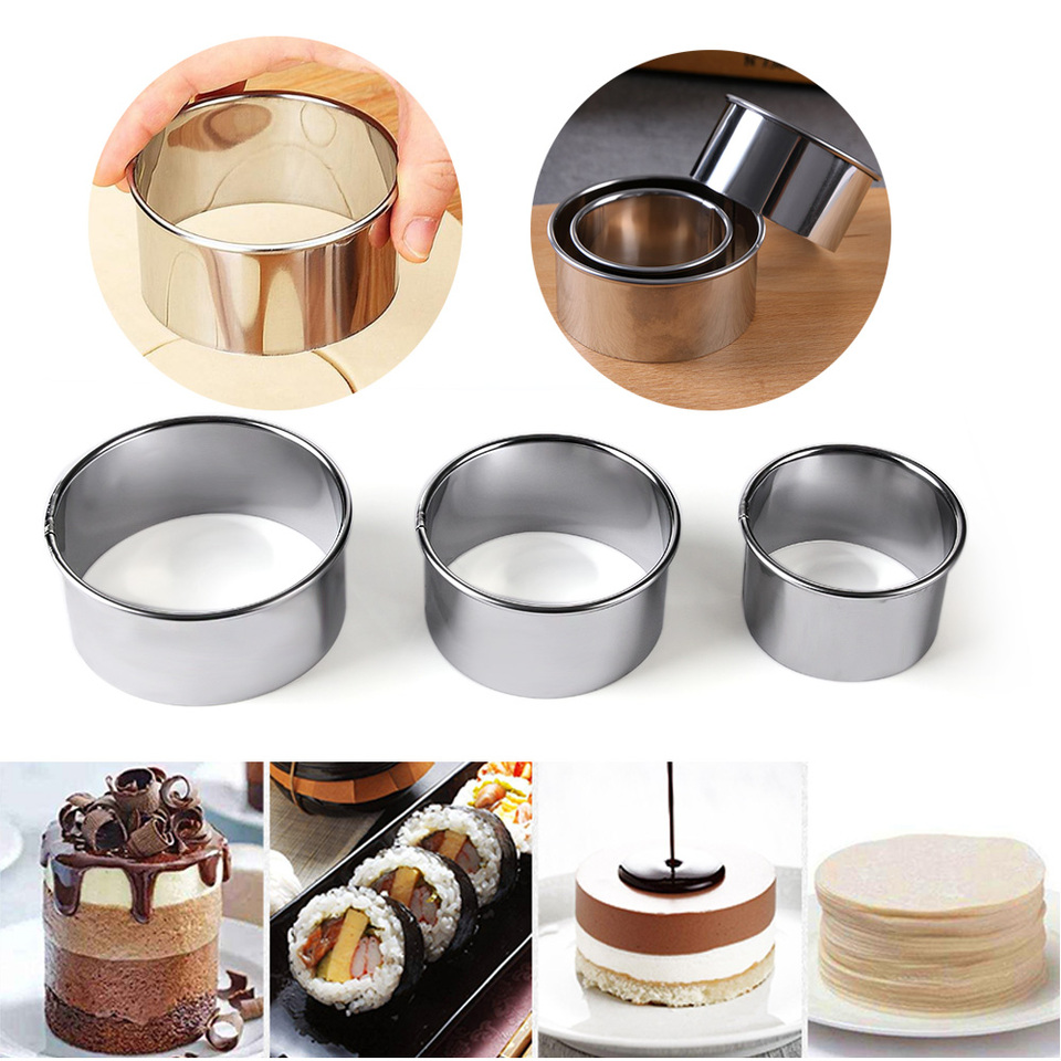 Stainless Steel Round Dumplings Wrappers Mold Round Cookie Pastry Cutting Tool