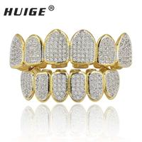 The Hiphop King Gold Plated All Iced Out Luxury Rhinestone Gold Grillz Set With Extra Molding