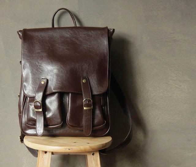 Новый 2015 100% новый рюкзаки vintage женщины рюкзак повседневная женщины сумки Горячие школьные сумки ежедневно back pack pu кожаная сумка w416