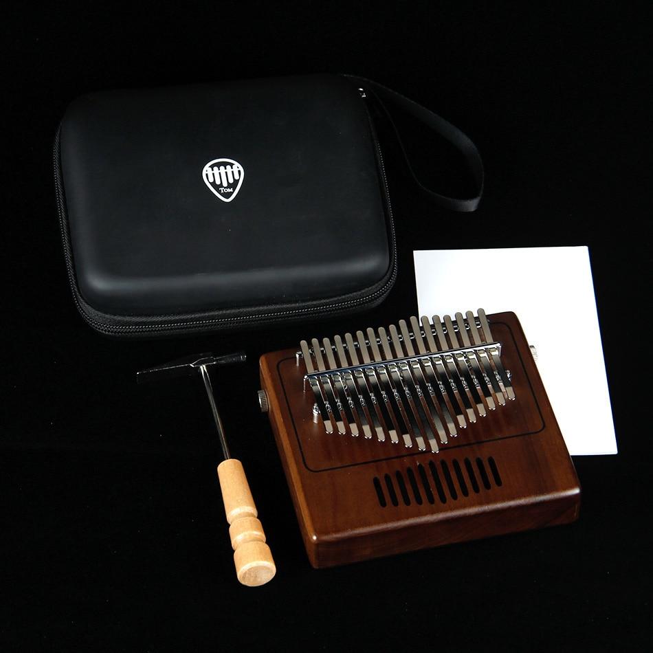 MUKU planche unique Kalimba pouce Piano17 sons en bois Portable doigt Piano ACACIA bois