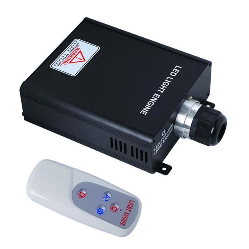45w RGB Led Fiber Generator Optic Engine Lights Fiber Optics Lighting Driver With 4Key RF Remote For Optic Fiber Light 12v 24v 7w mini round fiber optic led projector generator light engine