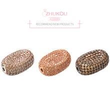 ZHUKOU 13x19 мм модные плоские круглые разделительные бусины для браслетов ожерелье изготовление сережек Аксессуары Модель: VZ209