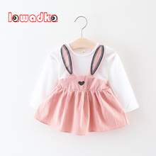 Lawadka Cute Rabbit Ear Baby Dress Cotton Cartoon B