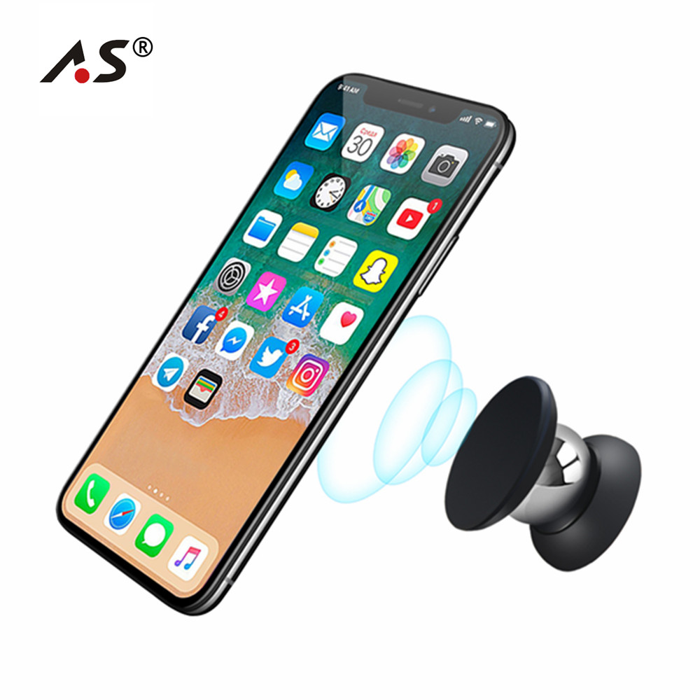 A.S Magnet 360 Degrees Mini Holder For iPhone Magnetic Car Dashboard Mobile Mount Car Phone Holder For VIP Drop Shipping Client 360 degree mini suction cup holder w clip car charger for motorola moto g black