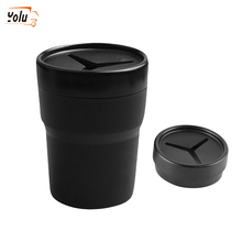 YOLU Multifunctional Car Mini Pen Tissue Coin Holder High Quality PP Silicone Box Trash Bin Container