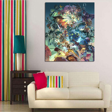 цена на Overwatches Fan Art Poster  HD Canvas Painting Prints Living Room Home Decoration Modern Wall Art Oil Painting Poster Framework