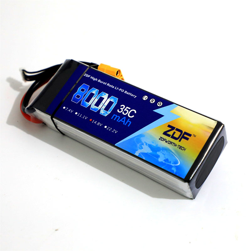 ZDF LiPo Battery 3.7V 7.4V 11.1V 14.8V 18.5V 22.2V 2S 3S 4S 5S 6S 8000mah 6S 35C 70C for RC Helicopter Airplane Car Boat Drone vho 6s 22 2v 8000mah 25c lipo battery traxxas for rc helicopter airplane car boat quadcopter airplane drone spare parts